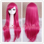 80cm Long Magenta Straight Cosplay Hair Wig Cw109-c