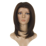 Straight Layered Face Framing Lace Front Wig | 'The Rachel' style Wig | Rich Brunette