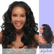 HW45-V (Vivica A. Fox) - Synthetic Half Wig in OFF BLACK
