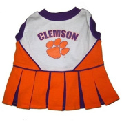 Pets First Clemson University Dog Cheerleader Outfit