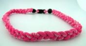Athletic Hot Pink 50cm Titanium Sport Necklace for Men