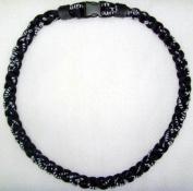 Athletic All Black 50cm Titanium Sport Necklace for Men