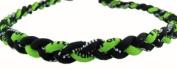 Athletic Green/Black 46cm Titanium Sport Necklace for Men