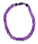 Athletic All Purple 50cm Titanium Sport Necklace for Men