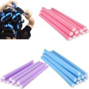 10x Hairstyle Foam Curler Stick Spiral Curls Tool DIY Bendy Hair Styling Roller