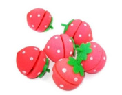 Strawberry Sponge Hair Curlers