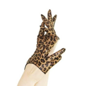 New Sexy Leopard Print Half-Palm Real Leather Gloves/Lady Gaga Carrie Kim Style Size M