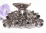 New Fashion Black Austrian Crystal Silver Tone metal Flowers/water drop Hair clips pins claws #298