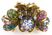 New Style Butterfly Multi-colour Rhinestones Top quality Metal Hair Claws Clip Pins
