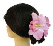 Silk Orchid Flower Hair Claw Bridal Wedding
