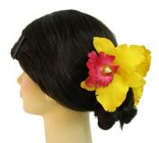 Silk Orchid Flower Hair Claw Bridal Wedding