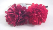 Beautiful New Two Tone Red & Maroon Flower Headband