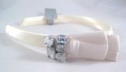 Gorgeous New White Ivory Coloured Headband with Rhinestones
