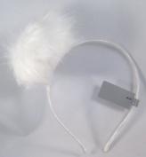 Unique and Fun New White Puffball Headband