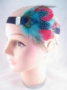 New Large Multi Coloured Feather Fascinator Headband