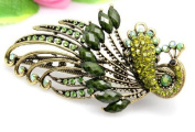 Oyang Lovely Vintage Jewellery Crystal Peacock Hair Clips - for hair clip Beauty Tools