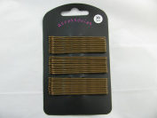 Useful pack of 30 brown extra long kirby grips, 6.5cm. Classic hair accessory.