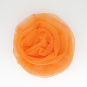 Chiffon Rosette Flower Hair Bow Clip