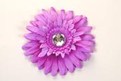 10cm Gerber Daisy Flower Clips with Crystal Centre