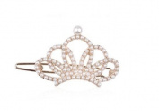 Glaring Pearl Crown Bowknot Star Hairpin