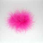 Marabou Feather Puff Hair Bow Clip