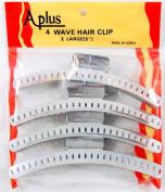 Aplus Metal Wave Clamps * Aluminium Hair Wave Clip (4 clips) - 2 sizes