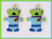2pc Set Disney Toy Story Alien Hair Bow Clips
