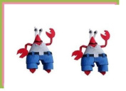 2pc Set Mr. Crabs Spongebob Hair Bow Clips