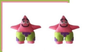 2pc Set Patrick Spongebob Hair Bow Clips