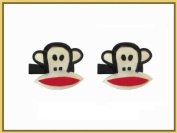 2pc Set Paul Frank Monkey Hair Bow Clips