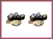 2pc Set Pink Bobby Jack Monkey Hair Bow Clips