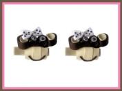 2pc Set Pink Bobby Jack Monkey Hair Bow Clips