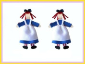 2pc Set Raggedy Ann Hair Bow Clips