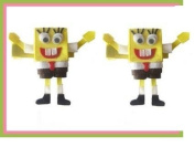 2pc Set Spongebob Hair Bow Clips
