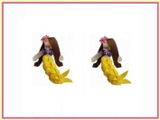 2pc Set Yellow Mermaid Hair Bow Clips