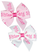 Hip Girl Boutique Small 7.6cm Grosgrain Ribbon Pinwheel Hair Bow on Lined Alligator Clips-One Size