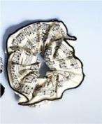 Music Treasures Co. White Music Score Scrunchie