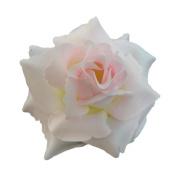 Silk Rose Flower Hair Clip Bridal Wedding 9.5cm .
