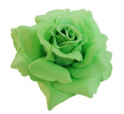 Silk Rose Flower Hair Clip Bridal Wedding 9.5cm .