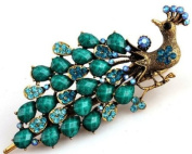 Lovely Vintage Jewellery Crystal Peacock Hair Clips Hairpins- For Hair Clip Beauty Tools