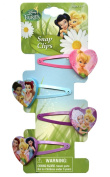 4pk Disney Fairies Tinkerbell Hair Snaps Hair Accessories