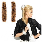 Hair U Wear Faux Fur Snap Wrap Cheetah Not!