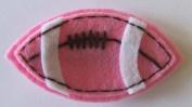 Pink Felt Football Hair Clip