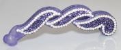 Banana Clip with Crystals - Purple