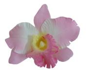 Silk Orchid Flower Hair Clip Bridal Wedding