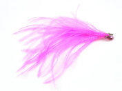 Touch of Nature 40312 Ostrich Feather Decor Clip, Candy Pink