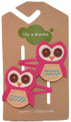 Little Owl Hair Clip (Pink)