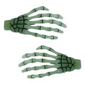Kreepsville 666 Skeleton Bone Hands Hairslides Glow
