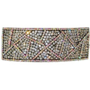 Rhinestone Pave Hair Clip, Accented with Ab Rhinestones for the Holidays!, in Crystal with Ab Finish