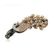 Elegant rhinestone peacock gold-plating hair accessories headdress hair clip banana clip
